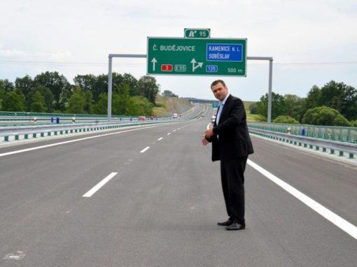 Otevření dálnice D3 Tábor-Veselí n. L. 27. 6. 2013