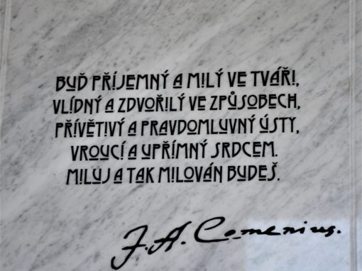 Odhalení pamětních desek v českobudějovickém gymnáziu Česká, 15.10.2021.